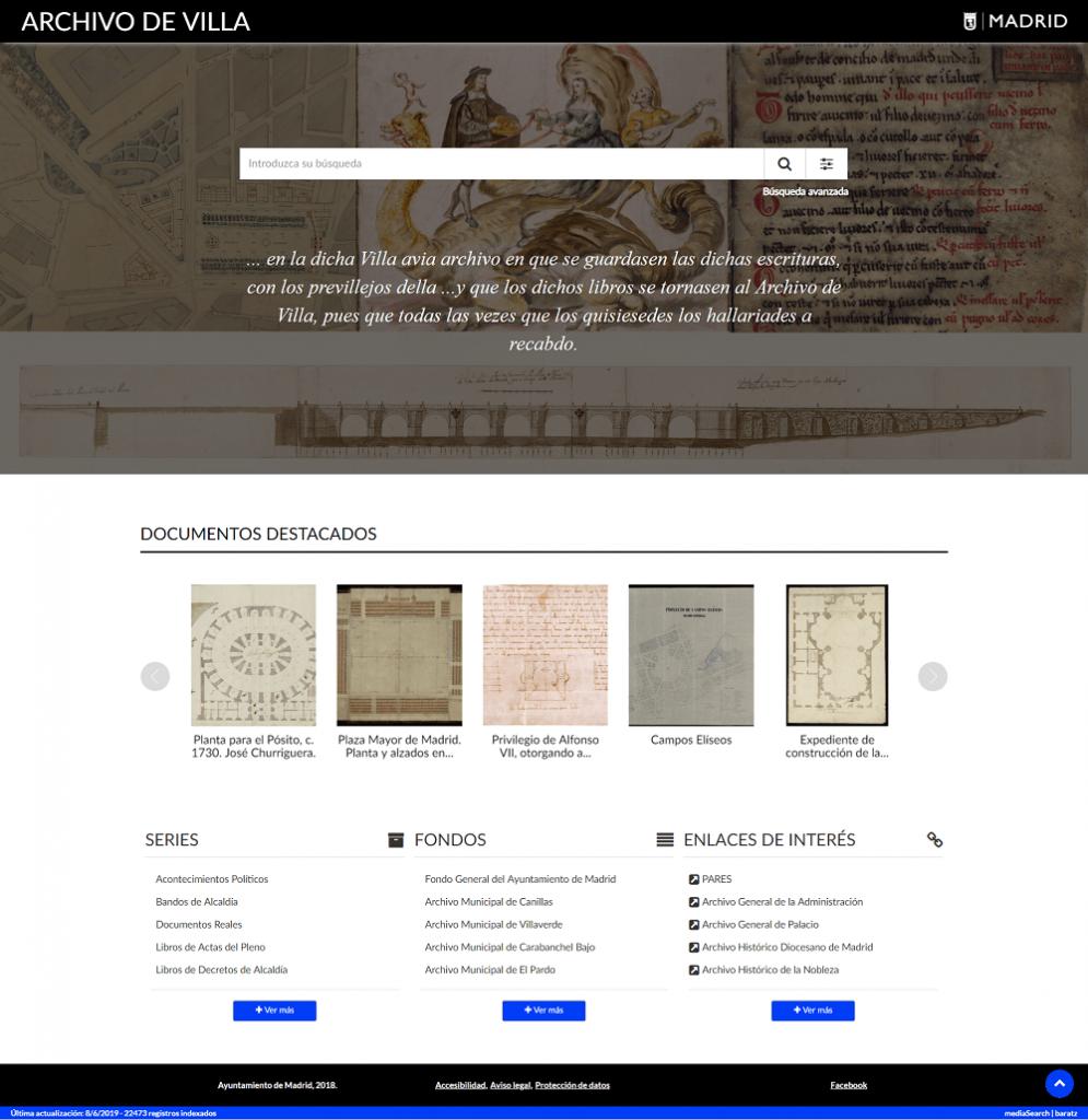 Archivo de Villa - Ayuntamiento de Madrid - MediaSearch