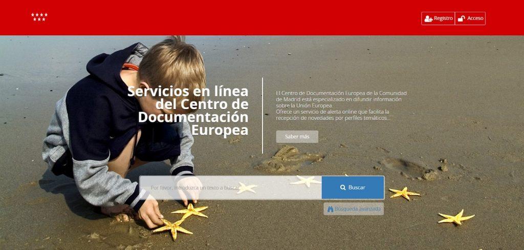 Servicio en línea del Centro de Documentación Europea