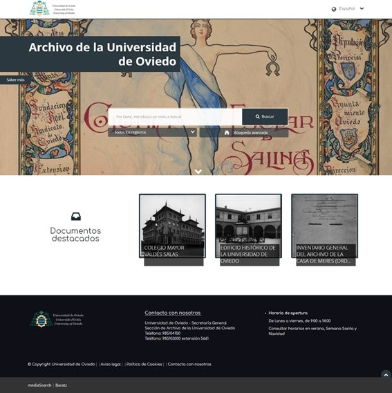 Archivo digital Universidad de Oviedo - MediaSearch