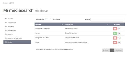 Alertas correo en MediaSearch 2.2