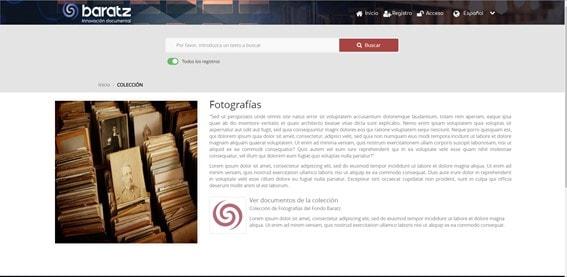 Páginas dedicadas a colecciones en MediaSearch 2.2