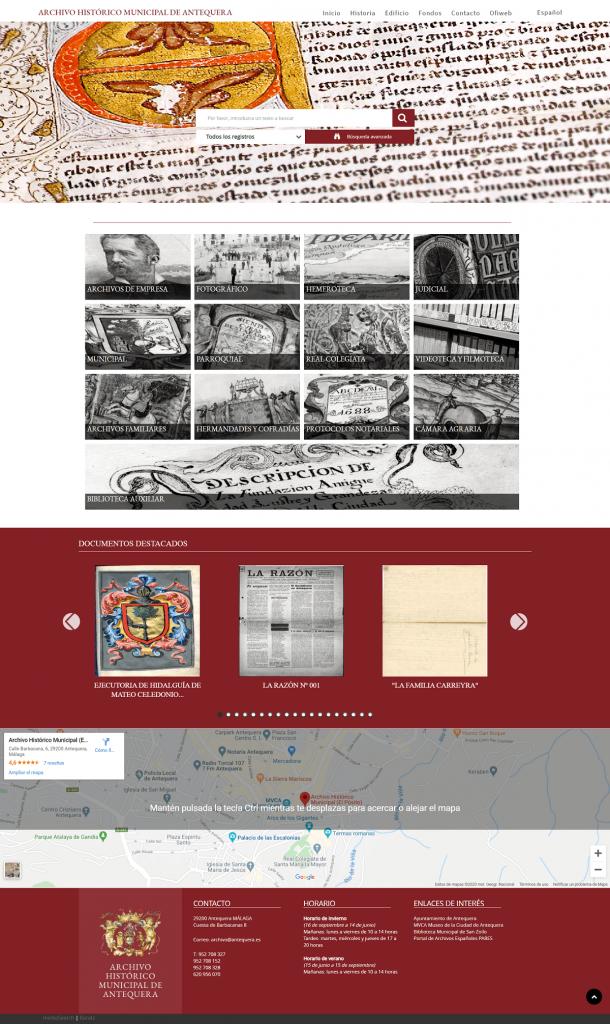 MediaSearch 2.2 del Archivo Histórico Municipal de Antequera