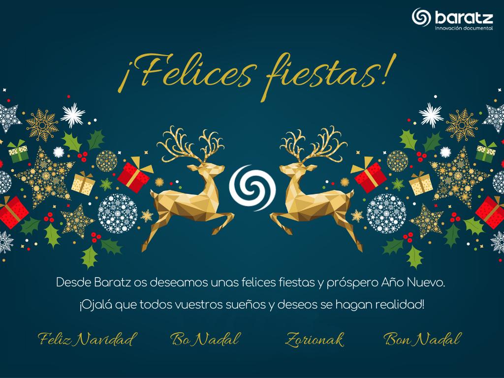 Desde Baratz os deseamos unas felices fiestas y próspero Año Nuevo