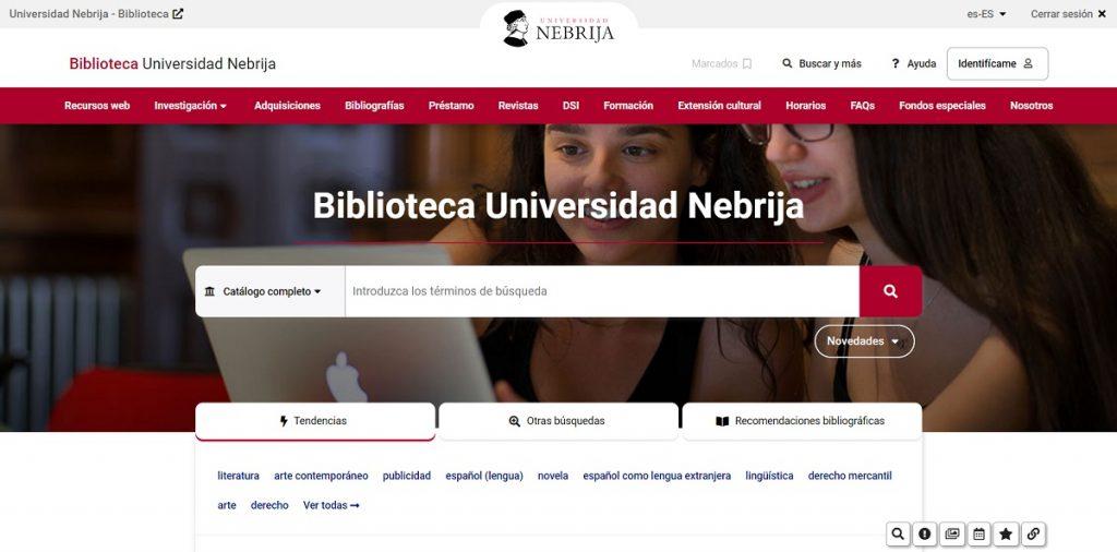 Opac Universidad Nebrija AbsysNet 2.3